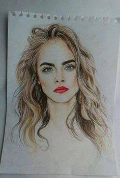 Cara #Delevingne drawing