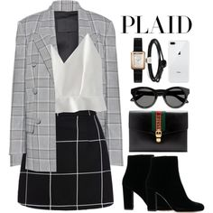 A fashion look from November 2017 featuring WithChic tops, Alexander Wang blazers and Gucci clutches. Browse and shop related looks.