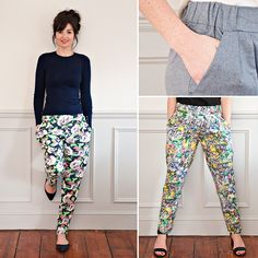 Sew Over It Carrie Trousers. Not yet released outside of the class, but I'm hoping it'll come out soon. Diy Clothing, Clothing Patterns, Dress Patterns, Sewing Patterns, Sewing Pants, Sewing Clothes, Sew Over It, Diy Vetement, Make Your Own Clothes