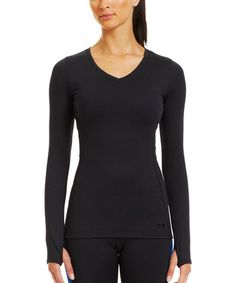 Look what I found on #zulily! Black ColdGear® Infrared V-Neck Tee by Under Armour® #zulilyfinds