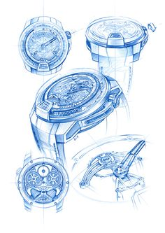HYT_WATCHES_H2_SKETCHES on Behance