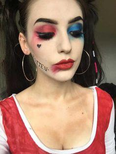 harley quinn make up Más Harley Quinn Halloween Costume, Cute Couple Halloween Costumes, Harley Quinn Cosplay, Diy Costumes, Diy Halloween, Pirate Costumes, Harly Quinn Makeup, Maquillaje Harley Quinn, Makeup Tutorials