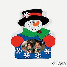 Snowman Photo Frame Magnet Craft Kit