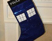 Dr Who Christmas Stocking. $18.00, via Etsy.