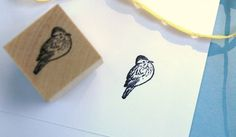 Sitting Bird  Rubber Stamp by norajane on Etsy, $4.00