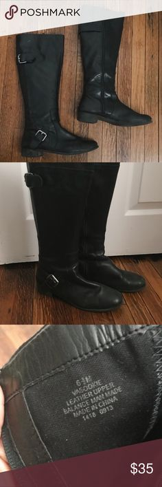 Nine West Black Riding Boots with Silver Buckles Nine West Riding Boots Black with silver buckle details and subtle black zipper on inside of leg Slight heel In good condition just not my style! Size 6.5 😊💘👢 Nine West Shoes Heeled Boots