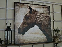 Horse Canvas Art   Down to Earth Style: New Canvas Art....a horse