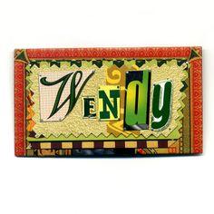 berman, name badge | Wendy Name Badge Pin by Harriete Estel Berman | Flickr - Photo Sharing ...
