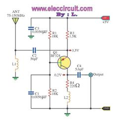 luggage security alarm project circuit using logic gates posts this is wide band high frequency amplifier circuit wide frequency band between mhz using transistors to enhance signal strength fm or amateur radio