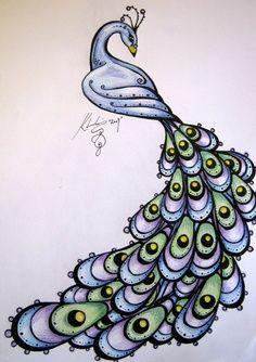 zentangle peacock | Zentangle Peacocks