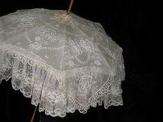 Gorgeous antique lace umbrella ~❥