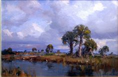 Florida Skies over the Everglades. Emile Albert Gruppe
