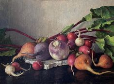 """Kamille Corry on Instagram: """"Beets radishes and turnip - available at Ann Long fine art @annlongfineart LINK in BIO oil on linen over panel 9 x 12"""" #oilpainting…"""""""