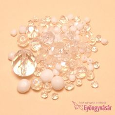 Fehér-átlátszó vegyes cseh csiszolt gyöngy (10 g) • Gyöngyvásár.hu Bead Jewelry, Pearl Earrings, Pearls, Fashion, 1st Grades, Beaded Jewelry, Moda, Pearl Studs, Fashion Styles