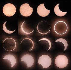 Moon Phases: A composite image of the annular eclipse as seen from Tokyo on Sunday night Cool Pictures, Cool Photos, Lunar Eclipse, Through The Looking Glass, Out Of This World, Science And Nature, Mad Science, Natural Wonders, Outer Space