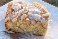 "Eggnog Coffee Cake. Moist, tender and very ""eggnoggy"" :-P"