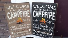 Welcome To Our Campfire wood sign by RustyStarSigns on Etsy
