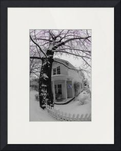 """House with snow"" by Jean-François Dupuis, Sherbrooke // House with snow // Imagekind.com -- Buy stunning fine art prints, framed prints and canvas prints directly from independent working artists and photographers."