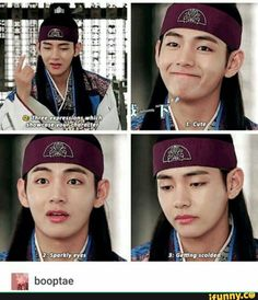 Acting lessons by Kim Taehyung  he does get in trouble a lot but it is his own fault