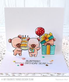 Beary Special Birthday Stamp Set and Die-namics, Pop Up Elements Narrow Die-namics - Yoonsun Hur  #mftstamps