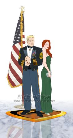 Fanart commission of G.I.Joe's Duke and Scarlett.