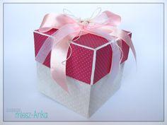 Paper Passion: Dziewczęcy exploding box na Chrzest