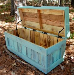 Storage box, w/out hinged top for ez access to wood.