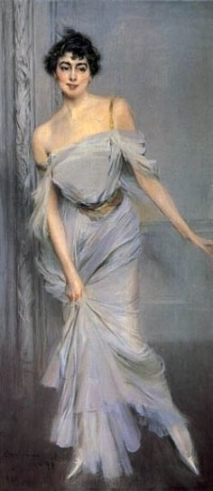 Giovanni Boldini  Madame Charles Max.   What a lovely expressive portrait.