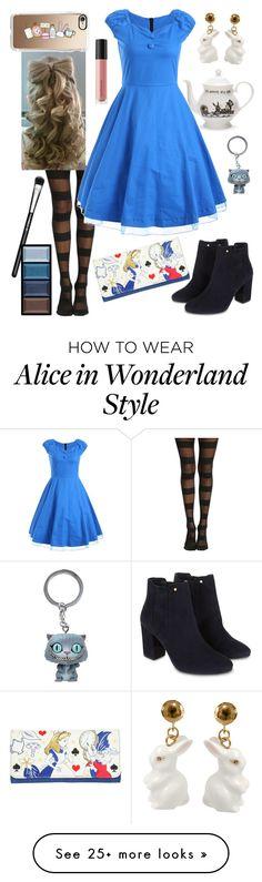 """Alice: Alice in Wonderland"" by caroline-huxsol on Polyvore featuring Mrs Moore, Casetify, Monsoon, Disney, Nach Bijoux, Bare Escentuals, MAC Cosmetics and Clé de Peau Beauté"