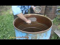 Как покрасить бочку для воды - YouTube