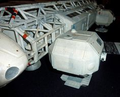 """Eagle leg pod detail from original 44"""" production model built by Brian Johnson for the television series Space: 1999."""