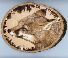 fox woodburning by jmix2.deviantart.com on @DeviantArt