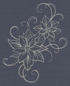 Deck the halls in glamorous style with this quick-stitching poinsettia embroidery design!
