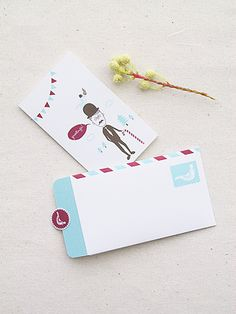 Cute Printable Mini Greeting Card and Letter-writing Set Freebies » Eat Drink Chic