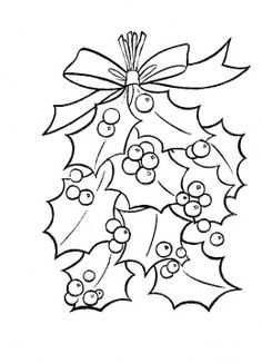 Holly Leaves With Bright Red Berries coloring page from Christmas Decoration category. Select from 27115 printable crafts of cartoons, nature, animals, Bible and many more. Christmas Colors, Christmas Art, Xmas, Pach Aplique, Merry Christmas Coloring Pages, Leaf Coloring Page, Printable Crafts, Printables, Holly Leaf