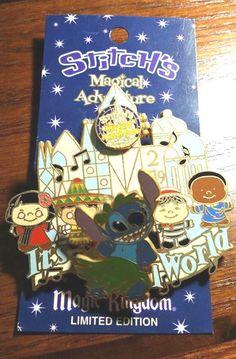 Disney Pin Stitch Stitch's Magical Adventure It's A Small World Magic Kingdom