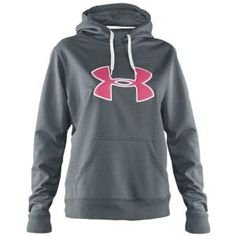 Under Armour Storm Armour Fleece Big Logo Hoodie - Women's - Training - Clothing - Pluto/True Grey   Heather/Break/True Grey Heather