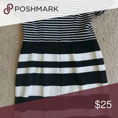Black Pencil Skirt with Slit INC Size 2 Brand New Deep Black Pencil Skirt Size 2 with back slit, elastic waistband and no zipper. INC International Concepts Skirts Midi