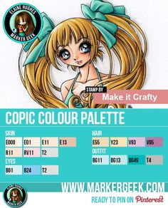 Make it Crafty - Aleisha Copic Marker Colour Palette - www.markergeek.com