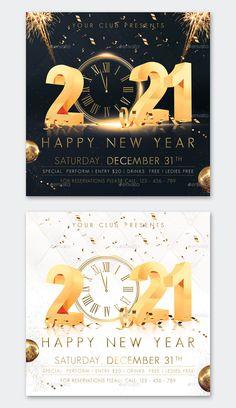 New Year Flyer Design Template PSD