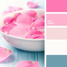This palette brings back memories of childhood, dreams of a little girl. Delicate pink shades harmonise with bright blue, creating an atmosphere of calmnes.