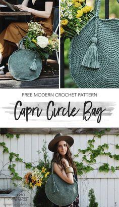 Capri Circle Bag pattern by Two of Wands ~ #FreeCrochetPattern
