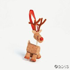Cork reindeer diy christmas with kids