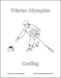Olympic Coloring Pages Curling
