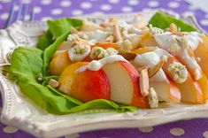 Pear Salad with Blue Cheese Dressing  From @Lana Stuart