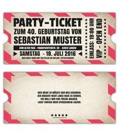 VIP-Einladungskarten-Party-originelle-Einladung-Ticket-Eintrittskarte--Vintage-online-selbst-gestalten-30.-40.-50.-60.-Geburtstag-gestanzt-Party-Einladung-witzig                                                                                                                                                                                 Mehr