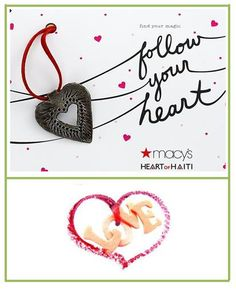 Follow your heart to Macy's and their Heart of Haiti project for awesome holiday gifts!   http://www.macys.com/haiti   #MacysHolidayHeart