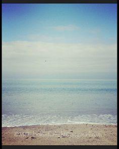 California Beach Photography. Blue Sky Ocean by Lookinforlight, $15.00