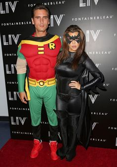 Kourtney Kardashian and Scott Disick as Batman and Robin