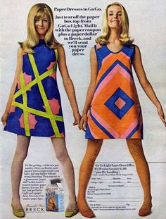 Gilded Gypsies Blog: 60's Pop Culture: The Paper Dress!